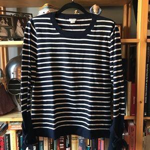 J CREW factory - lightweight crew neck sweater, L